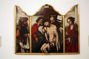 English: Descent from the Cross (Triptych of R...