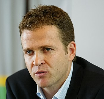 Oliver Bierhoff during press conference in Aug...