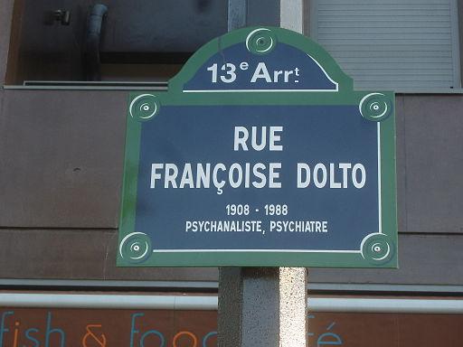 Paris 13e - Rue Françoise-Dolto - plaque