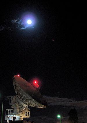 Radio Telescope and the Moon