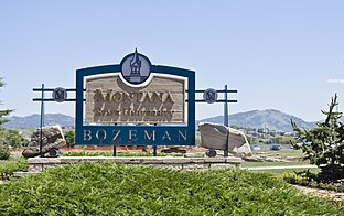 Sign on southwest side of campus - Montana State University - Bozeman, Montana - 2013-07-09
