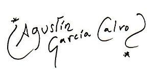 Français : signature de Agustín García Calvo