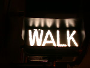 "Traffic Signal ""Walk"", New York City"