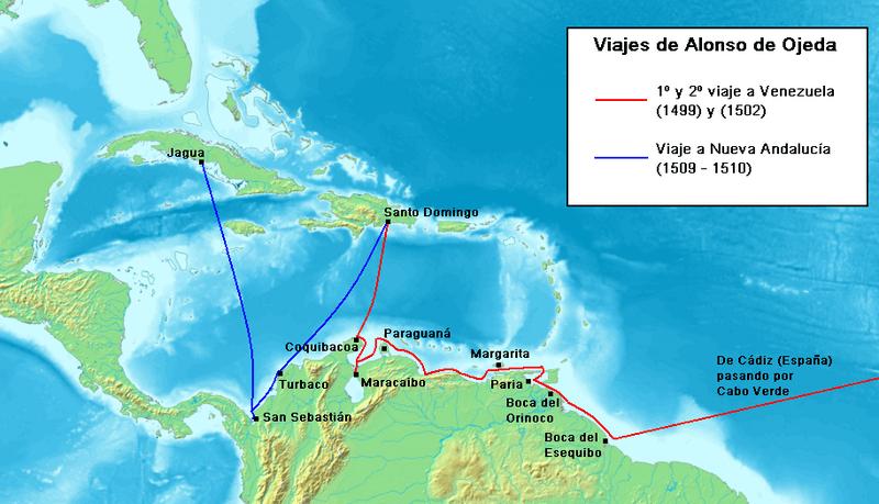 Archivo:Viajes de Alonso de Ojeda.PNG