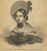 L'accession au trône de la reine Victoria le 20 juin 1837