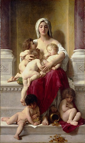 Charity by William-Adolphe Bouguereau