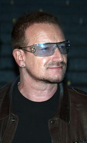 English: Bono at the Vanity Fair kickoff party...