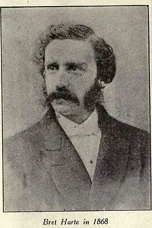 Portrait of Bret Harte 1868 from Overland Mont...