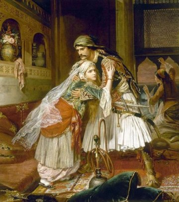 Charles Wynne Nicholls The Parting Of Conrad And Medora