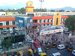 coimbatore railway junction front view, coimba...