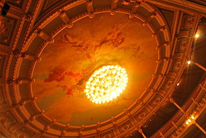 English: Cupola of the Teatro Nacional in San ...