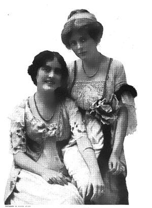 1913 photograph of sisters Edith Taliaferro an...