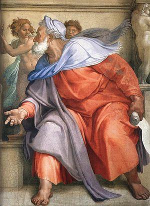 Ezekiel, from Michelangelo's Sistine Chapel ce...