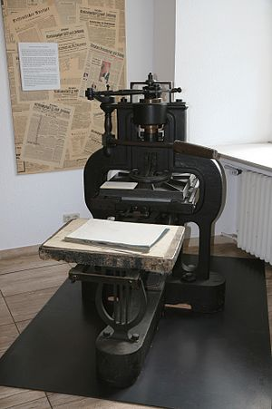 Stanhope press from 1842