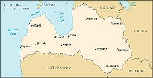 Kaart Letland