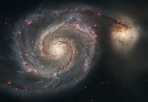 The Whirlpool Galaxy (Spiral Galaxy M51, NGC 5...