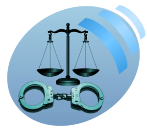 English: icon of law and crime for Wikinews
