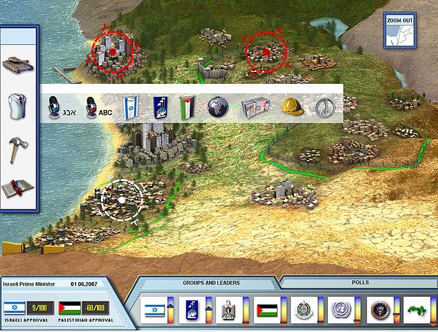 Screenshot of video game PeaceMaker