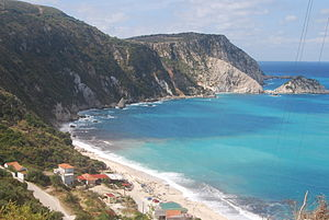 English: Petani Beach, Kefalonia, Greece.