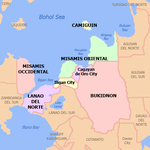 English: Political map of Northern Mindanao Re...