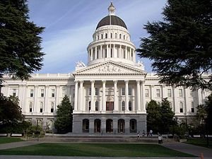 The California State Capitol building in Sacra...