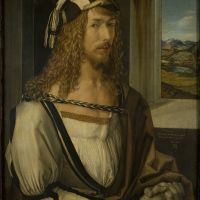 """Self-Portrait with Gloves"" by Albrecht Dürer"