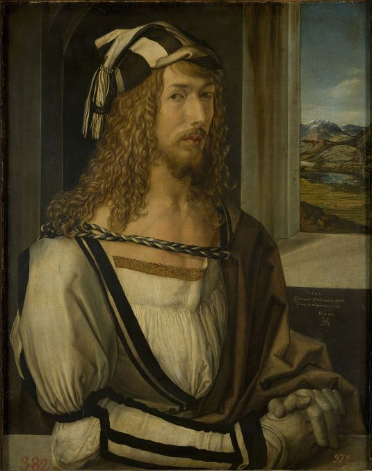"""Self-portrait at 26"" by Albrecht Dürer"