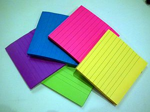 A Post-it note is a piece of stationery with a...