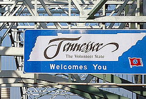 Tennessee state welcome sign