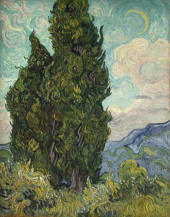Vincent van Gogh: Zypressen. Saint-Remy, Juni ...