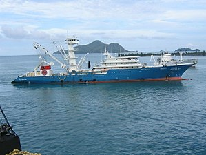 Large blue water tuna purse seiner. A Puretic ...