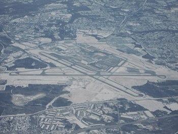 English: Aerial photograph of Baltimore/Washin...