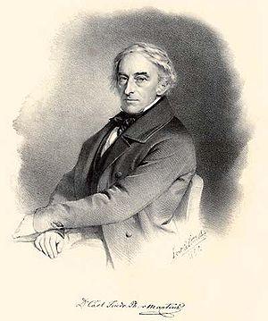 Engraving portraying Carl Friedrich Philipp vo...