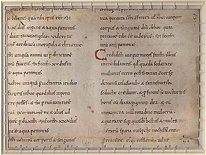 Image of pages from the Decretum of Burchard o...