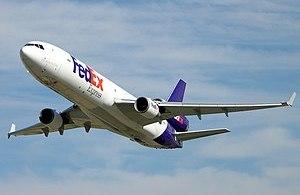 FedEx MD-11 N525FE during flight test of the N...