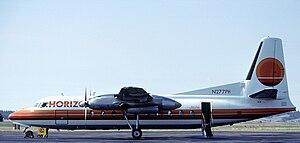 A Horizon Air Fairchild FH-27 at Spokane Inter...