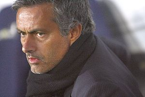 English: Football : Manager Jose Mourinho of I...