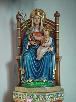 English: The statue of Our Lady of Walsingham,...