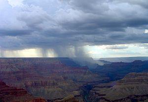 Rain Showers over the . Taken in