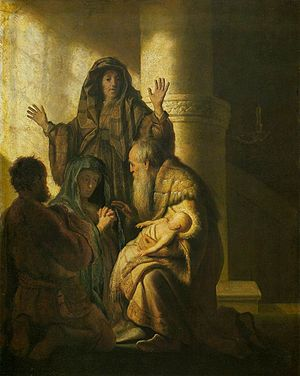 Rembrandt - Simeon and Anna Recognize the Lord...
