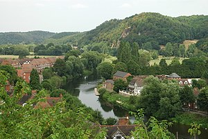 English: River Severn from Bridgnorth High Town