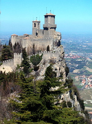 San Marino Castle, Republic of San Marino.