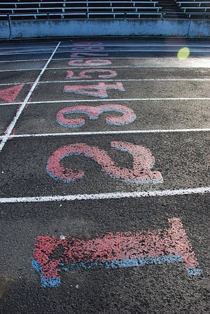lanes at Franklin High School track