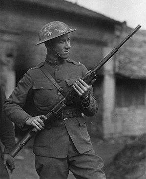 English: John M. Browning's son Lt. Val Browni...
