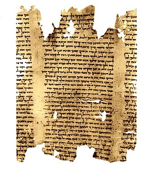Dead Sea Scroll - part of Isaiah Scroll (Isa 5...