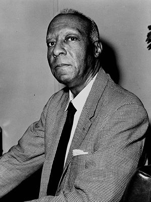 A. Philip Randolph, U.S. civil rights leader, 1963