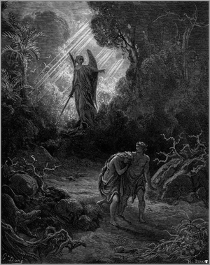 Adam and Eve Driven out of Eden (engraving by ...