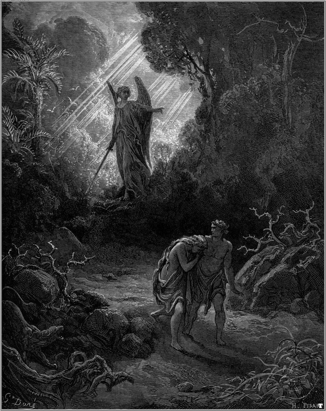 Gustave Doré - Adam and Eve Driven out of Eden // larryhuntbiblecommentary.wordpress.com