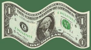 English: Flag shaped $ money. Obverse of Unite...