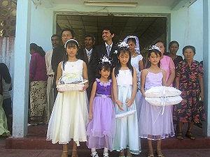 Ethnic Hakka people in a wedding in East Timor...